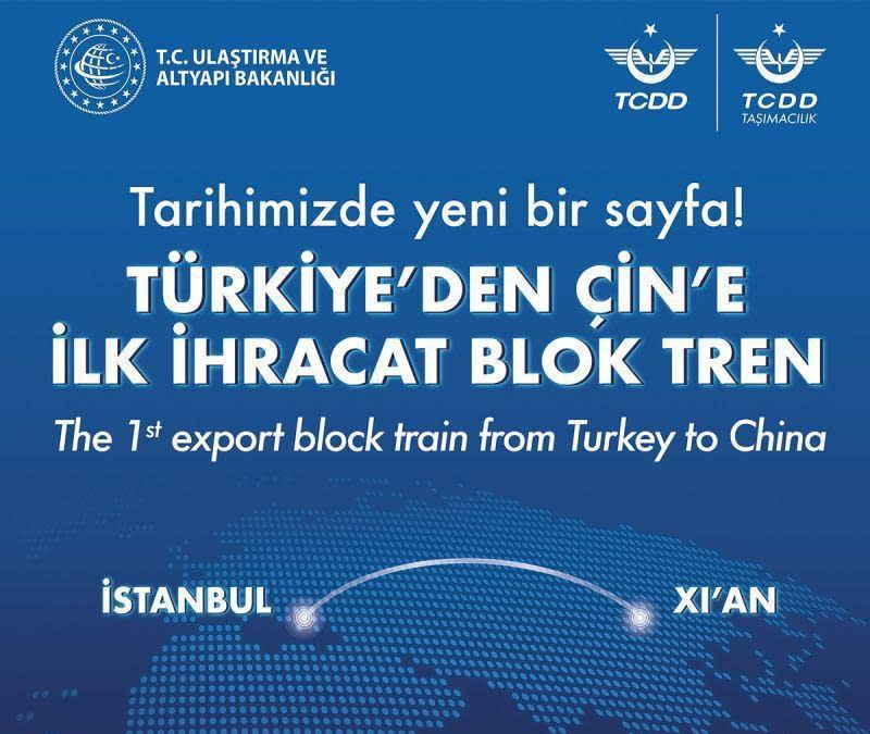 First export block train from Turkey to China