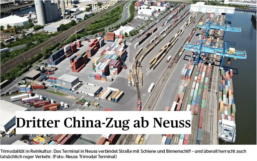 Dritter China-Zug nach Neuss