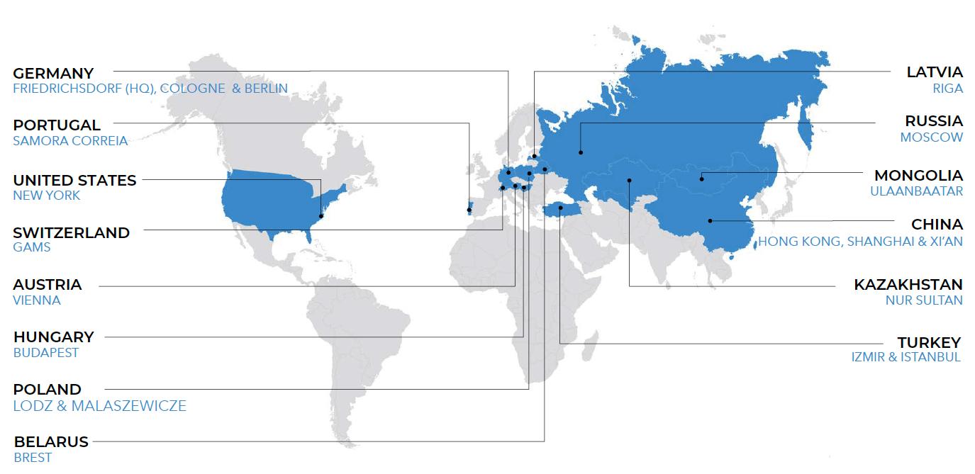 RTSB Locations worldwide
