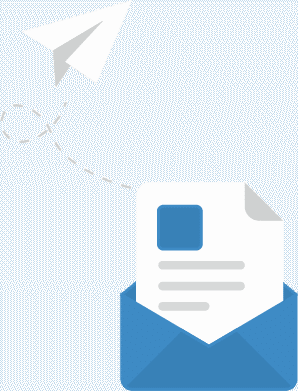 Contact form letter in envelop