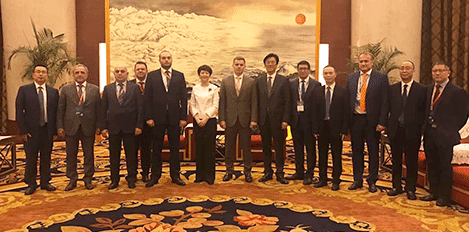Group picture of Kazakh and Chinese delegation with RTSB ceo
